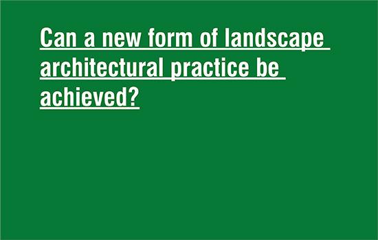 landscape architectural practice